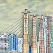Sky Stations Pylon Caps - Downtown Kansas City Missouri Art Print