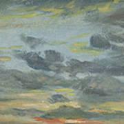 Sky Study, Sunset, 1821-22 Art Print