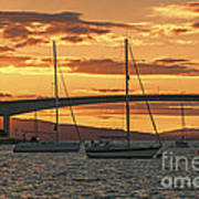 Skye Bridge Sunset Art Print