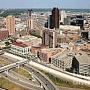 Skyline Aerial Of St. Paul Minnesota Art Print