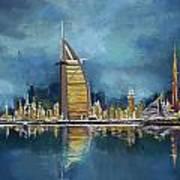 Skyline Burj-ul-khalifa  Art Print