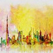 Skyline Collage  Art Print
