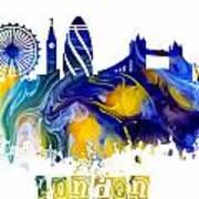 Skyline London England  Art Print
