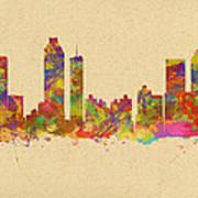 skyline of Atlanta Georgia Art Print