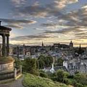 Skyline Of Edinburgh Scotland Art Print