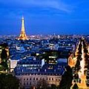 Skyline Of Paris Art Print