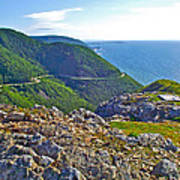 Skyline Trail And Road Through Cape Breton Highlands Np-ns Art Print