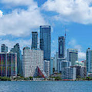 Skylines At The Waterfront, Miami Art Print