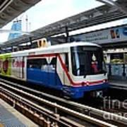 Skytrain Carriage Metro Railway At Nana Station Bangkok Thailand Art Print