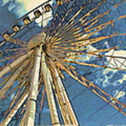 Skywheel At Niagara View Art Print