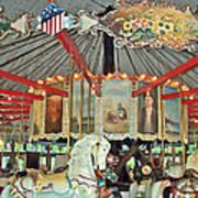 Slater Park Carousel Rounding Board Art Print