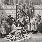 Slaughter Of The Sons Of Zedekiah Before Their Father Art Print