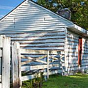 Slave Huts On Southern Farm Art Print by Brian Jannsen