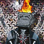 Slaves Of Technology Art Print by Larry Butterworth