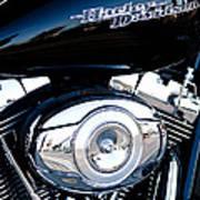 Sleek Black Harley Art Print by David Patterson