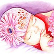 Sleeping Baby Print by Irina Sztukowski