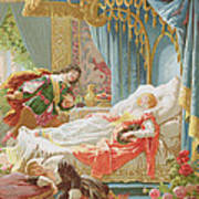 Sleeping Beauty And Prince Charming Art Print