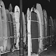 Sleeping Surfboards Art Print