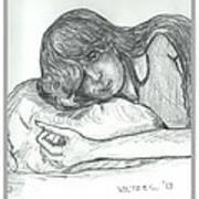 Sleepy Beauty Art Print