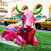 Cow Parade N Y C 2000 - Sleepy Time Cow Art Print