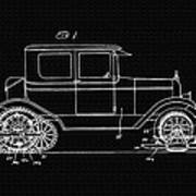Sleigh Attachment For Motor Vehicles Support Patent Drawing From 1926 2 Art Print