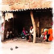 Slice Of Life Mud Oven Chulha Tandoor Indian Village Rajasthani 1b Art Print