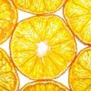 Slices Orange. Art Print by Slavica Koceva