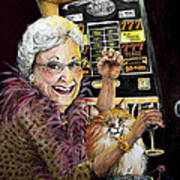 Slot Machine Queen Art Print