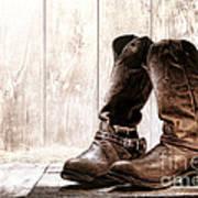 Slouch Cowboy Boots Art Print