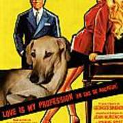 Sloughi Art - Love Is My Profession Movie Poster Art Print