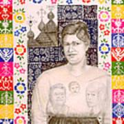 Slovak Grandmother Art Print by Diana Perfect