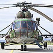 Slovakian Mi-17 With Digital Camouflage Art Print