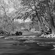 Slow Down At The River Art Print