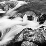 Slow Flow Black And White Art Print