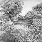 Slow River  Art Print