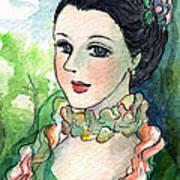 Sm003 Young Pompadour Art Print