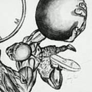 Small Ball Dunking Art Print