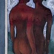 Small Blue Mirror Art Print by Graham Dean