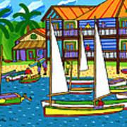 Small Boat Regatta - Cedar Key Art Print