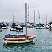 Small Boats At Lyme Regis Harbour Art Print