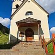small church in Penia Art Print