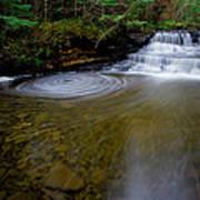 Small Falls Pool Swirl I Art Print