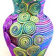 Small Filigree Vase Art Print by Alene Sirott-Cope