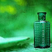 Small Green Poison Bottle Art Print