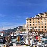 small harbor in Camogli. Italy Art Print