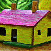 Small-house- Painting Art Print