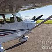 Small Plane In Private Airport Art Print