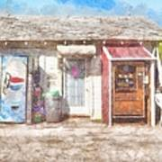 Small Town Pit Stop  Art Print