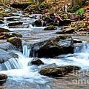 Small Waterfall In Western Pennsylvania Art Print