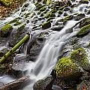 Small Waterfalls In Marlay Park Art Print
